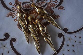 Dekorácie - Zlaté cencúle na stromček - 8707378_