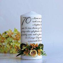 Svietidlá a sviečky - Sviečka dekorovaná kvetmi - Goldenrod - 8705598_