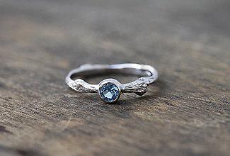 Prstene - Vetvičkový prsteň strieborný s topásom - 8709563_