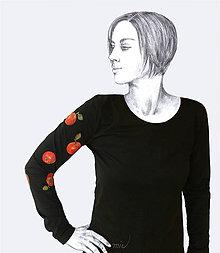 Tričká - Maľované tričko Jablká - Malus - 8706035_