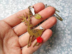 Náhrdelníky - Jelenček v lese ukrytý - 8708367_