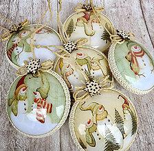 Dekorácie - Vianočné ozdoby snehuliak - 8706632_