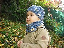 Detské doplnky - Modrý nákrčník - 8705734_