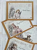 - Čas Vianoc karty/obálky sada - 8709485_