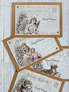 Papiernictvo - Čas Vianoc karty/obálky sada - 8709485_