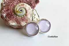 Náušnice - Dots Violet - 8707993_