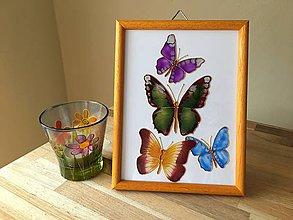 Obrázky - Obrázok sklenený - motýľ - 8707861_