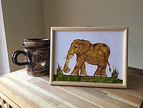 Obrázky - Obrázok sklenený - slon - 8707899_
