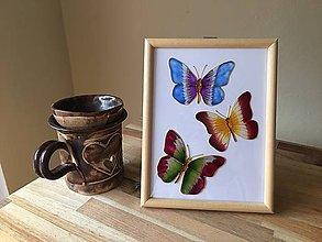 Obrázky - Obrázok sklenený - motýľ - 8707904_