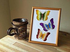 Obrázky - Obrázok sklenený - motýľ - 8707913_
