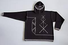 Svetre/Pulóvre - INKASO- originální pánský svetr s kapucí - 8705889_