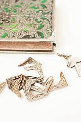 Komponenty - Ochranný rožtek - Strieborný ornament - 8707376_