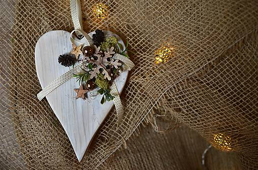 7ed4a9a41 Drevené vianočné srdiečko / lA.iK - SAShE.sk - Handmade Dekorácie
