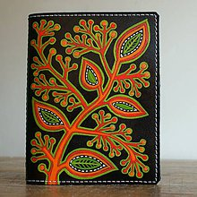 Peňaženky - Keř - kožená dokladovka - 8709477_
