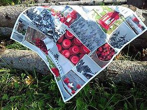 Úžitkový textil - White-Red Christmas Country - 8714138_