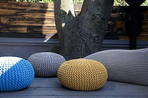 f2d0f9396f Béžový puf z hrubej priadze   LAF - SAShE.sk - Handmade Úžitkový textil
