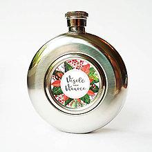 Nádoby - Ploskačka - Veselé Vianoce - kvety - 8710744_