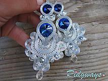 Silver...soutache (Sapphire)