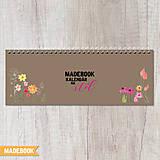 Papiernictvo - Kalendár na stôl - KVETY - 8710340_
