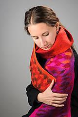 Šály - Farebný a teplý vlnený šál z Merino vlny - 8714139_