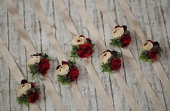 Náramky - Kvetinový náramok pre družičky - 8713397_