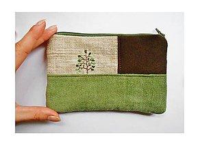 Peňaženky - Peňaženka zelená - 8710935_