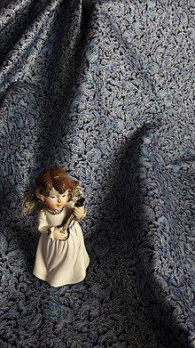 Úžitkový textil - Modro-strieborný slávnostný obrus - 8712845_