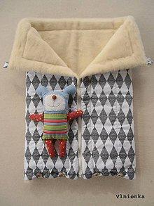 Textil - Deka a fusak DANIEL 2 v 1 100% merino Top Super wash SCANDI black and white - 8714247_