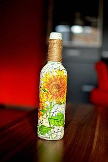 Dekorácie - Malá slnečnicová vázička - 8711541_