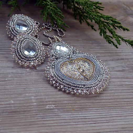 Voyage en Arabie - White silver-  sada šperků