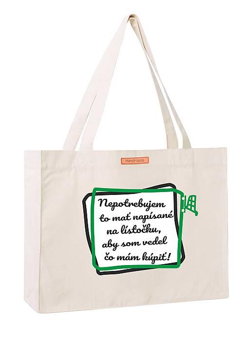 743dd570e013b Nákupná taška z recyklovanej bavlny / TeVe - SAShE.sk - Handmade ...