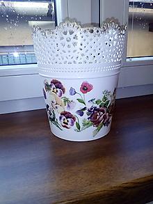 Nádoby - Kvetináč sirôtkový - 8712528_