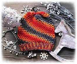 Čiapky - Čiapka - farbená vlna - 8712786_