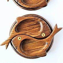 Nádoby - Drevený podnos Dve Rybičky   2 Fish snack tray - 8712537_
