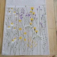 Úžitkový textil - Štóla na stôl - zakvitnutá lúka - 8712959_