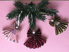 Dekorácie - Vianočné ozdôbky 8  / anjeliky / - 8710732_