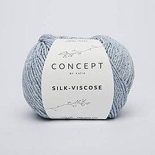 Galantéria - Priadza KATIA Silk-Viscose - posledné klbká (56 - svetlo modrá) - 8713373_