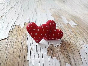 Náušnice - MIDi maľované bodkované srdiečka (iná farba na želanie-uveďte pri objednávke) - 8713299_