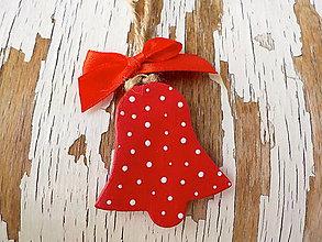 Dekorácie - Štedré Vianoce-motív na výber (zvonček) - 8714007_