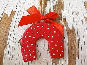 Dekorácie - Štedré Vianoce-motív na výber (podkova) - 8714012_