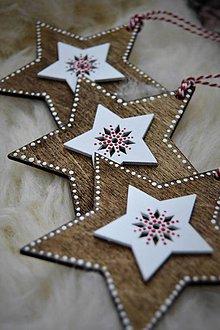 Dekorácie - Drevená hviezda - 8713174_