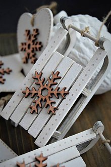 Dekorácie - Vianočná sada s vločkou - 8713275_