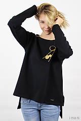 Mikiny - Dámska mikina čierna IO9 - 8713786_