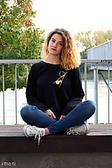 Mikiny - Dámska mikina čierna IO9 - 8713790_