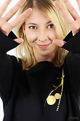 Mikiny - Dámska mikina čierna IO9 - 8713793_