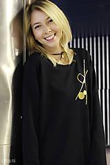 Mikiny - Dámska mikina čierna IO9 - 8713794_