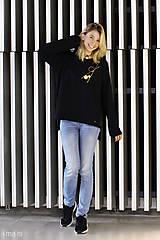 Mikiny - Dámska mikina čierna IO9 - 8713801_