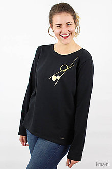 Mikiny - Dámska mikina čierna IO9 - 8713791_