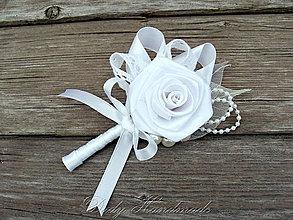 Pierka - Svadobné pierko pre ženícha Biela Ruža - 8718063_