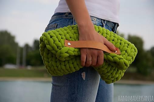 b5900d6569 Zelená clutch kabelka   LAF - SAShE.sk - Handmade Kabelky